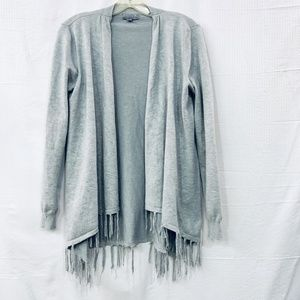 Joseph A. Womens Open Cardigan W/ Fringe Sz Small